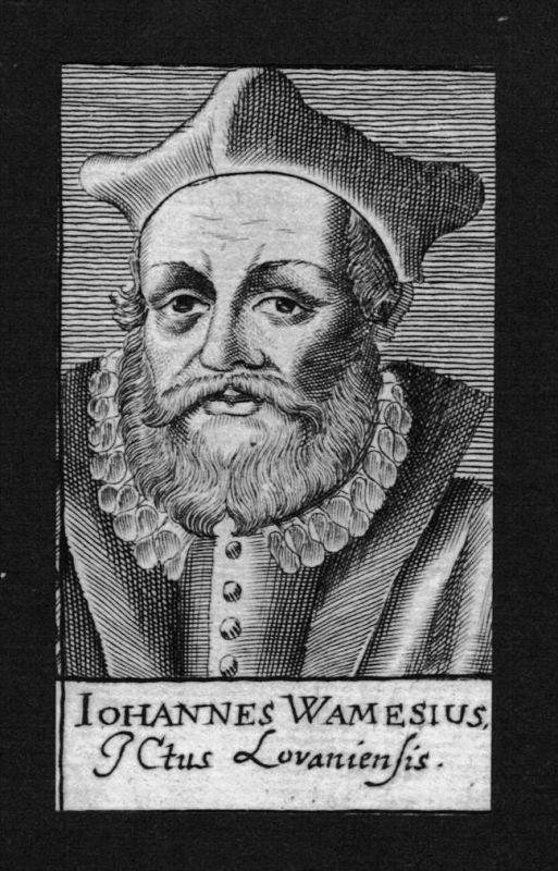 Johann Wamesius Jurist lawyer Lüttich Löwen Kupferstich Portrait