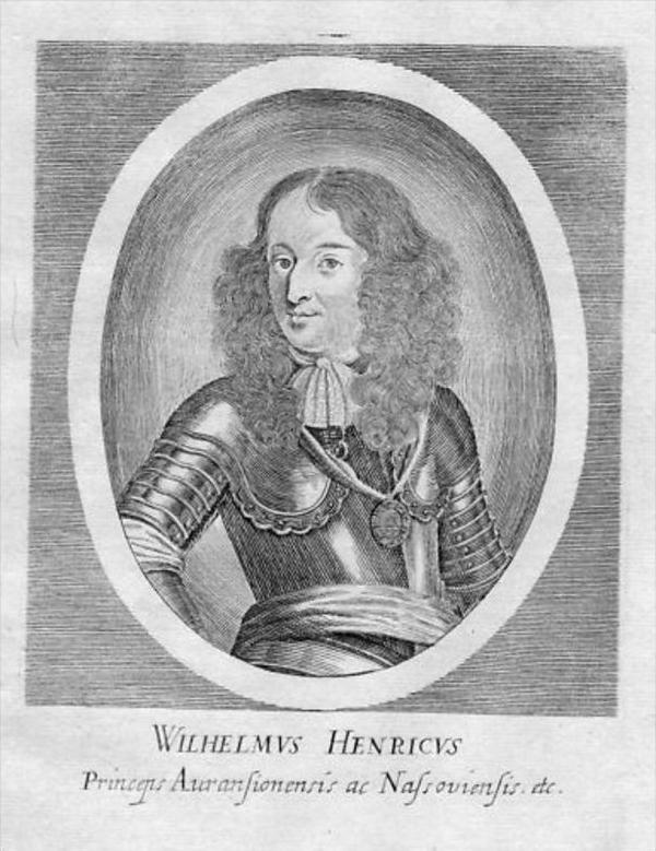 Wilhelm III Heinrich v. Oranien Nassau Portrait Merian