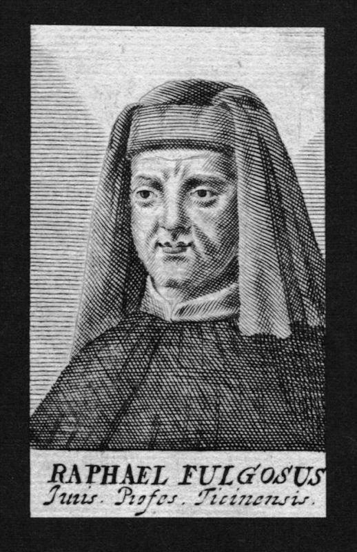 Raphael Fulgosi Fulgosius Jurist lawyer Italien Kupferstich Portrait