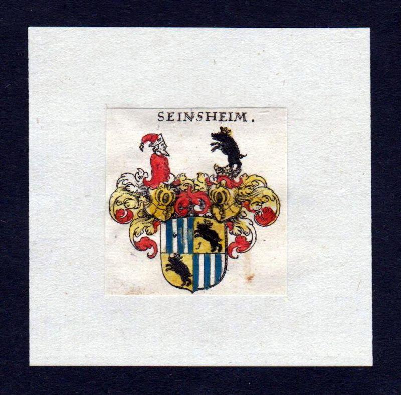 17. Jh Seinsheim Wappen Adel coat of arms heraldry Heraldik Kupferstich