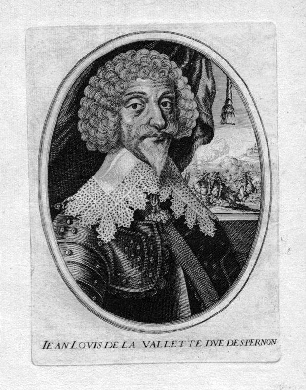 Jean Louis de Nogaret de la Valette Epernon Portrait Kupferstich engraving