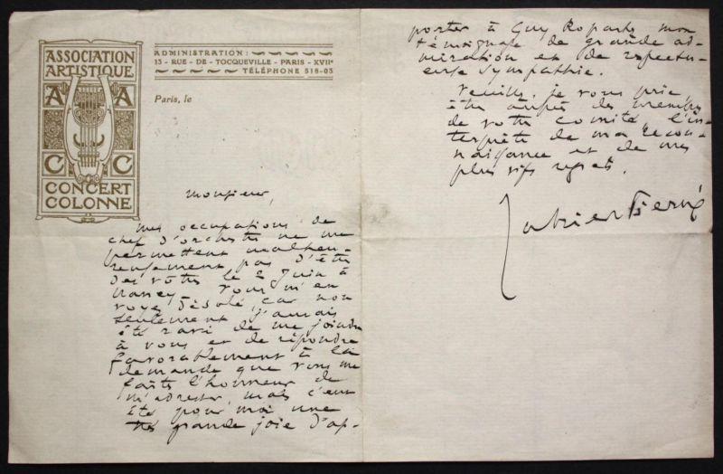 autograph letter / eigenhändiger Brief mit Unterschrift