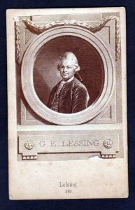 Gotthold Ephraim Lessing Portrait CDV Photo vintage Foto