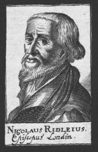 Nicholas Ridley Bischof von Rochester England Kupferstich Portrait