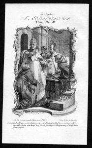 Evaristus 26. Oktober - Kupferstich Heiliger Heiligenbild Holy Card