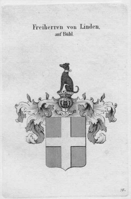 Linden Bühl Wappen Adel coat of arms heraldry Heraldik crest Kupferstich