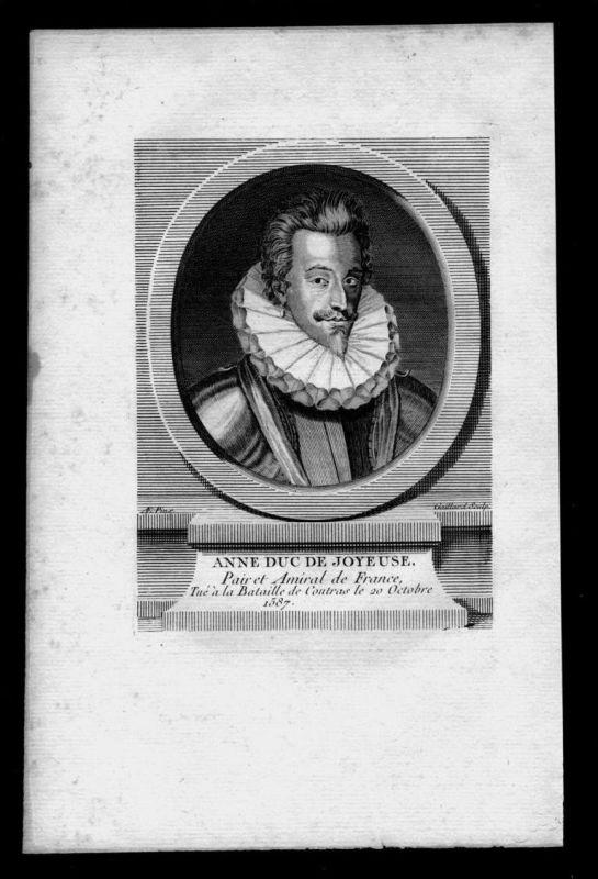 Anne de Joyeuse Baron von Arques Admiral Frankreich Kupferstich Portrait 0