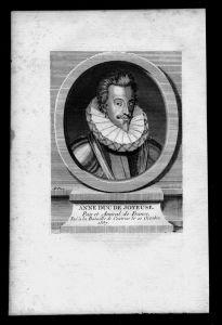Anne de Joyeuse Baron von Arques Admiral Frankreich Kupferstich Portrait