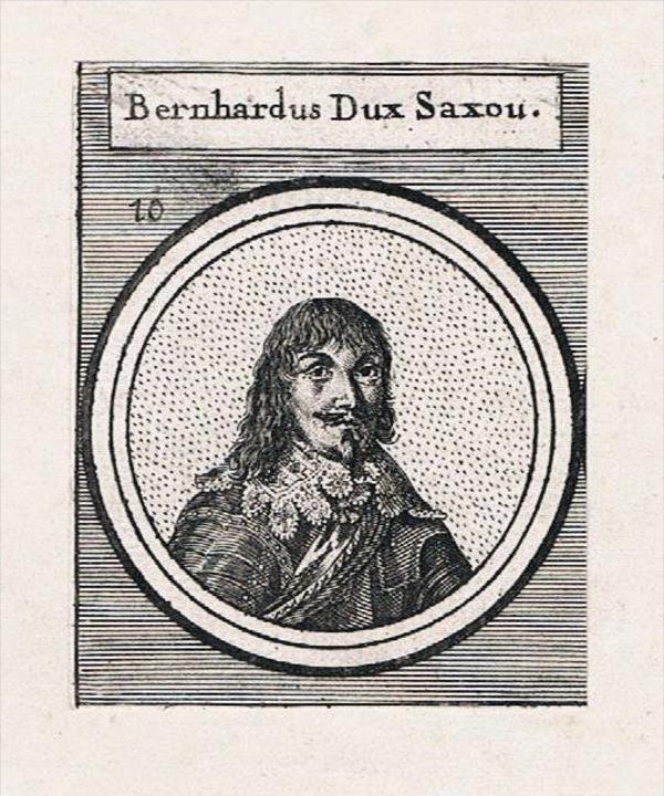 Bernhard von Nassau-Beilstein Herzogtum Westfalen Kupferstich Portrait