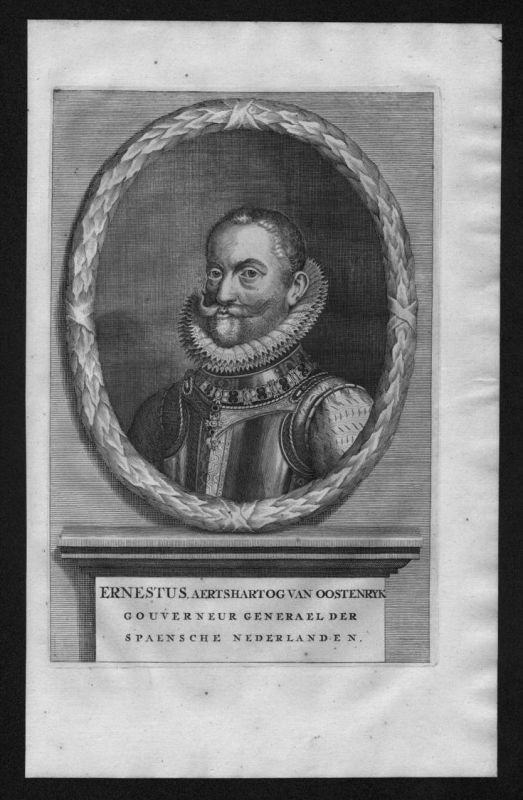Ernst von Österreich Habsburg Erzherzog Portrait Kupferstich