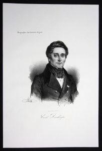 Emile Deschamps Dichter poet Frankreich France Lithographie Portrait