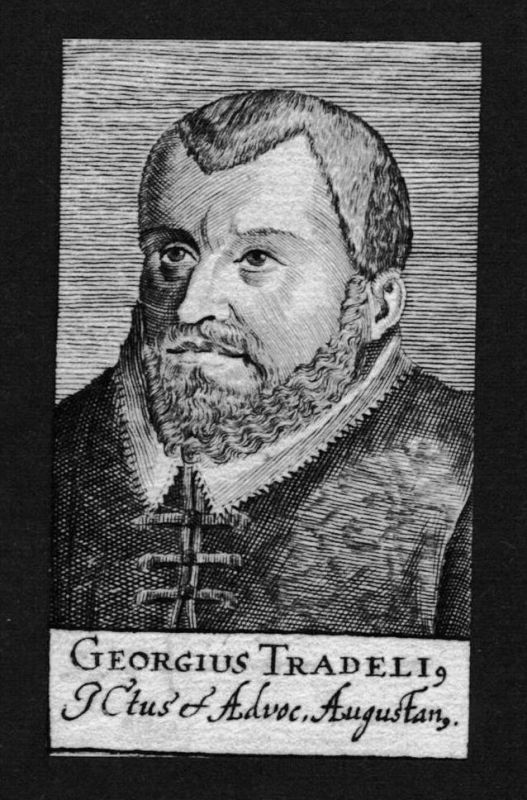 Georg Tradel Georgius Tradelius Jurist lawyer Kupferstich Portrait