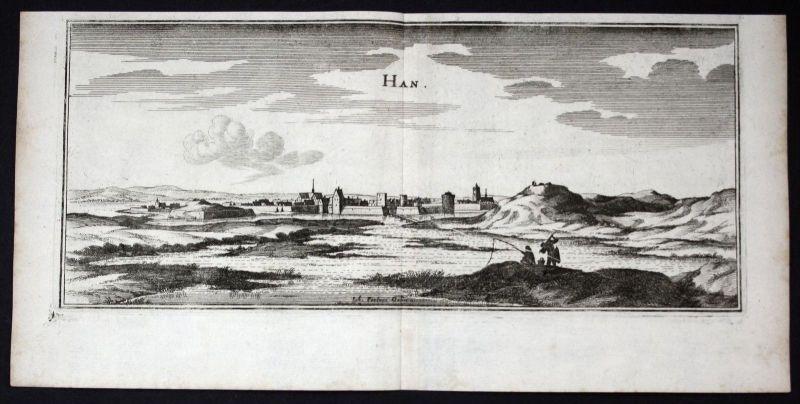 Han-sur-Meuse Lorraine gravure estampe Kupferstich Merian engraving