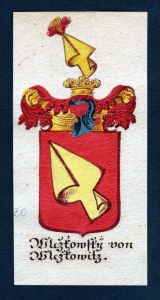 Wiczkowsky von Wiczkowicz Böhmen Wappen coat of arms Manuskript