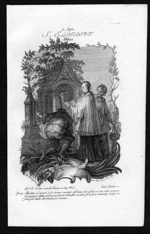 Elpidius 2. September - Kupferstich Heiliger Heiligenbild Holy Card