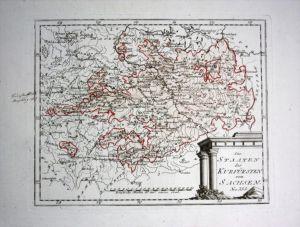 Kurfürstentum Sachsen - Reilly Karte map