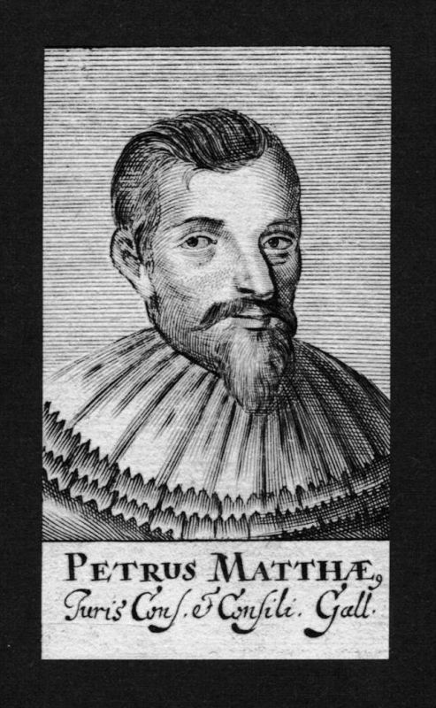 Petrus Matthae Jurist lawyer Professor Kupferstich Portrait