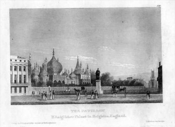 Brighton England Pavillon Antique Print