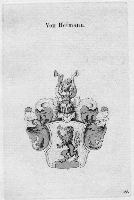 Hofmann Wappen Adel coat of arms heraldry Heraldik crest  Kupferstich