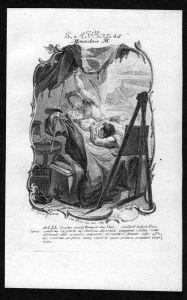 Andreas von Kreta 17. Oktober - Kupferstich Heiliger Heiligenbild Holy Card