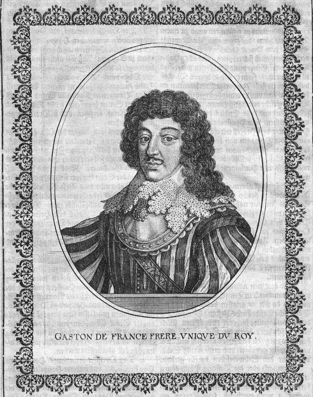 Gaston de France d'Orleans Portrait Kupferstich engraving gavure