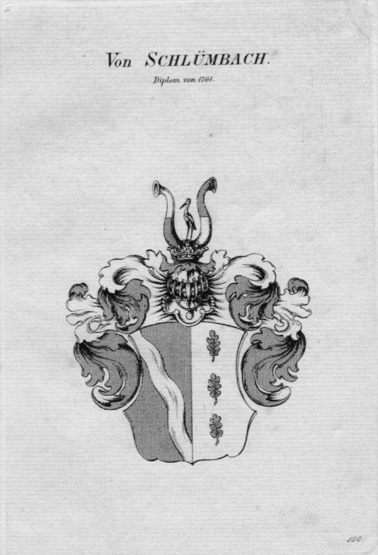 Schlümbach Wappen Adel coat of arms heraldry Heraldik crest Kupferstich