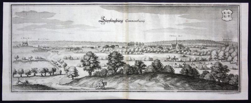 Süpplingenburg b Süpplingen / LK Helmstedt - Kupferstich Merian
