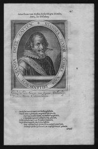 Johann VII Nassau Siegen Graf Portrait Kupferstich engraving