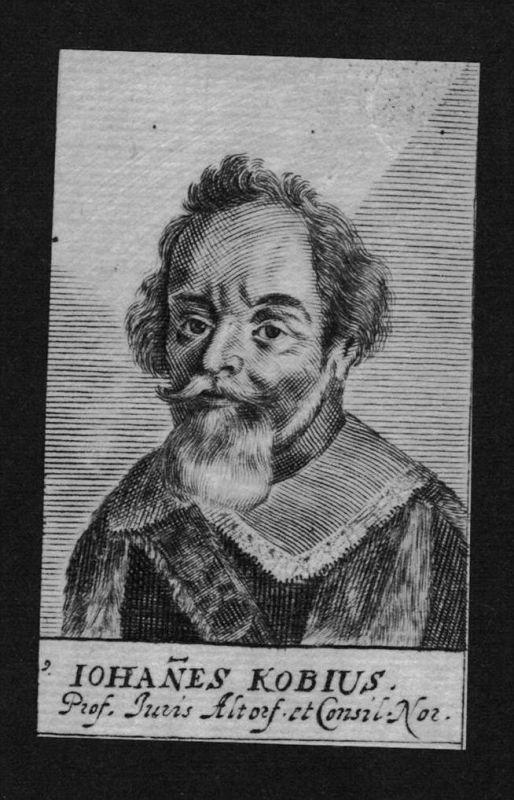 Johannes Kobius Jurist lawyer Professor Altdorf Kupferstich Portrait