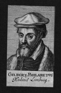 Gilbert Fuchs Philaretus Arzt doctor Limburg Hessen Kupferstich Portrait