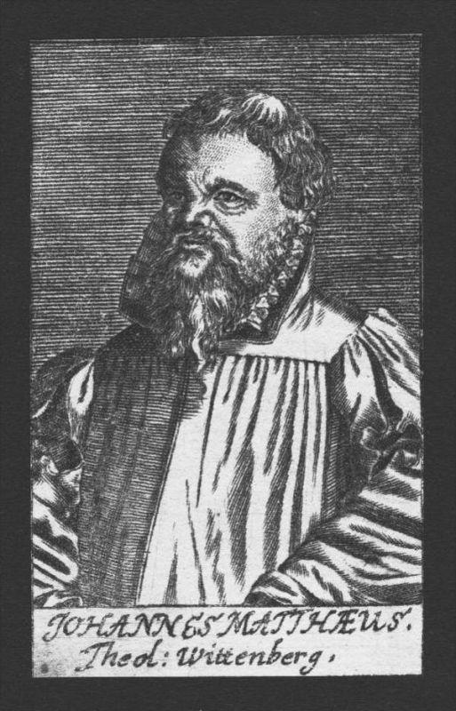 Johannes Matthaeus Theologe Professor Wittenberg Kupferstich Portrait