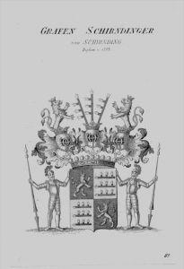 Schirndinger Wappen Adel coat of arms heraldry Heraldik crest Kupferstich