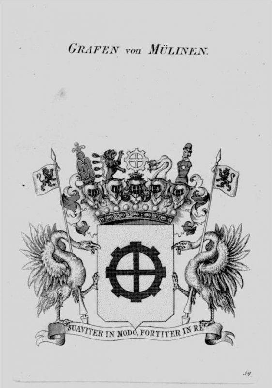 Mülinen Wappen Adel coat of arms heraldry Heraldik crest Kupferstich