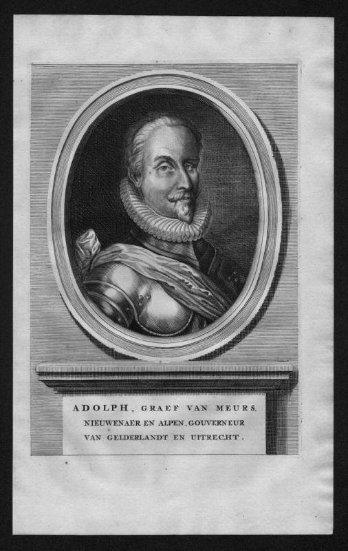 Adolf von Neuenahr Graf Limburg Moers Portrait Kupferstich