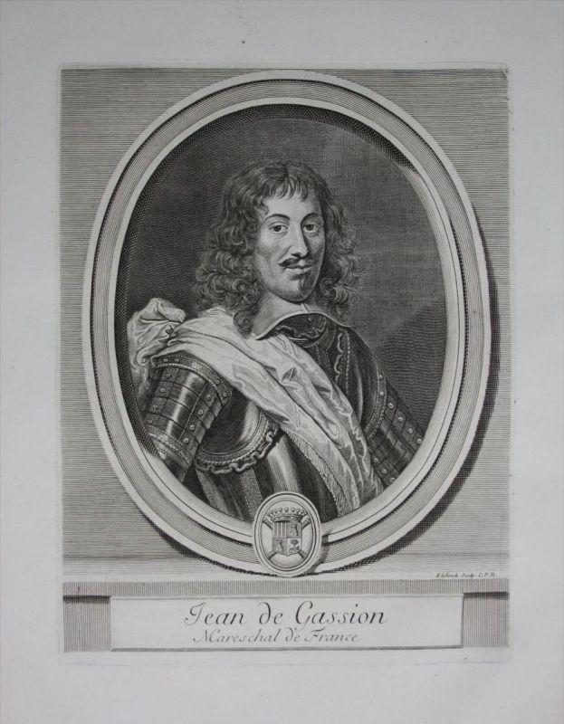 Jean de Gassion Heerführer Marschall Frankreich Kuperstich Portrait