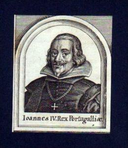 Johann IV v. Portugal König Portrait Merian