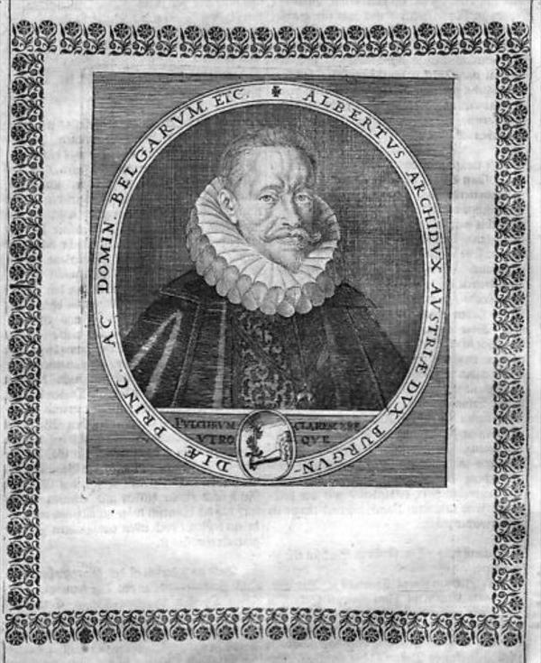 Albrecht VII v Österreich Erzherzog Portrait Kupferstich engraving