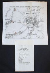 Schweidnitz Swidnica 1761 Poland map