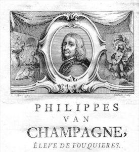 Philippe de Champaigne painter Maler Portrait Kupferstich gravure engraving