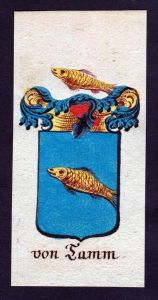 von Tamm Böhmen Wappen Adel coat of arms Manuskript