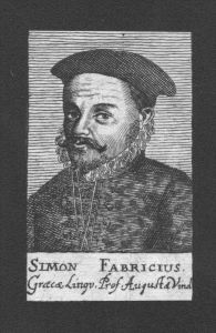 Simon Fabricius Professor Griechenland Greece Kupferstich Portrait