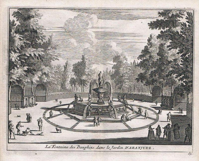 Aranjuez Espana Spain Spanien grabado Kupferstich engraving antique print