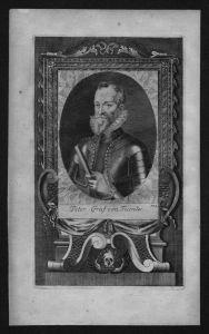 Pedro Henriquez Acevedo Graf von Fuentes engraving Kupferstich Portrait
