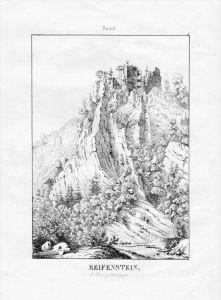 Ruine Rifenstein Kanton Basel Landschaft Schweiz Lithographie Suisse