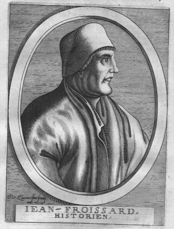Jean Froissart poet Dichter Portrait Kupferstich engraving gravure