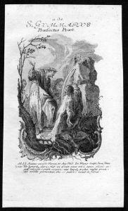 Gumarus Sardegna 11. Oktober - Kupferstich Heiliger Heiligenbild Holy Card