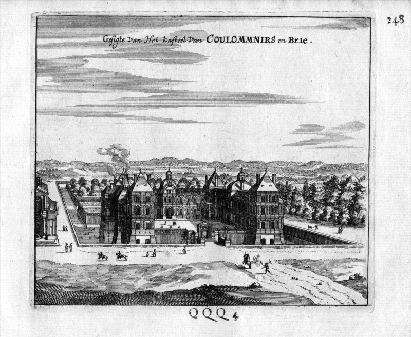 Chateau de Coulommiers Brie Frankreich France gravure estampe Kupferstich
