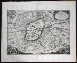 Nürnberg / Umgebung / Gesamtansicht - Grundriß der Statt Nurnberg sampt dem Koniglichen Schwedischen Lager und trachemen