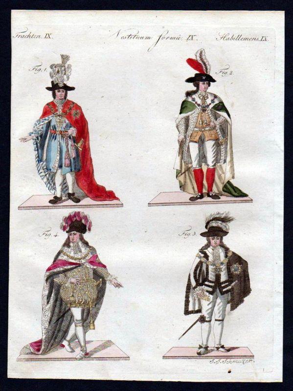 Ritter Andreas Orden Ritterorden Tracht costume Bertuch Kupferstich antique print