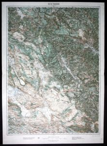 Travnik / Banjaluka / Zupanjac / Putocani / Kovaci - alte Landkarte 1913